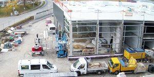 Neues Autohaus Baufortschritt Oktober