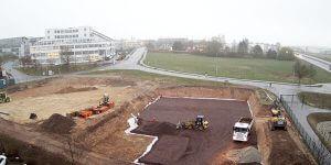 Neues Autohaus Baufortschritt April