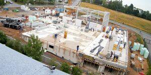 Neues Autohaus Baufortschritt Juli