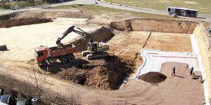 Neues Autohaus Baufortschritt März