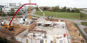 Neues Autohaus Baufortschritt Mai