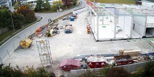 Neues Autohaus Baufortschritt September