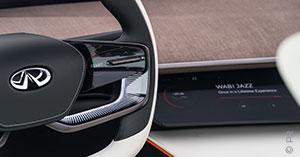 Infiniti Concept Car Lenkrad