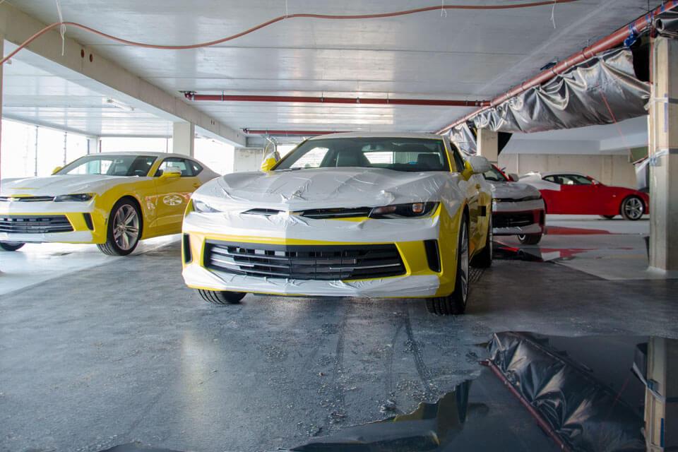 Die ersten Camaros sind da – im neuen Autohaus in Kesselsdorf.