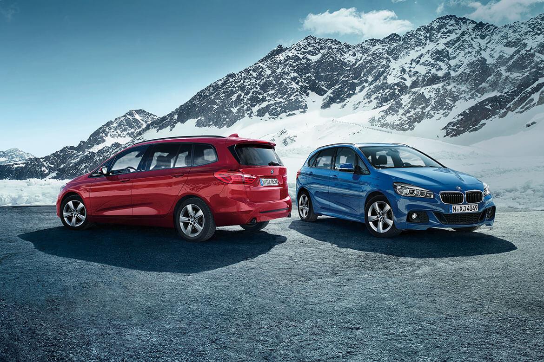 Zweimal neu: BMW 2er Active Tourer und BMW 2er Gran Tourer.