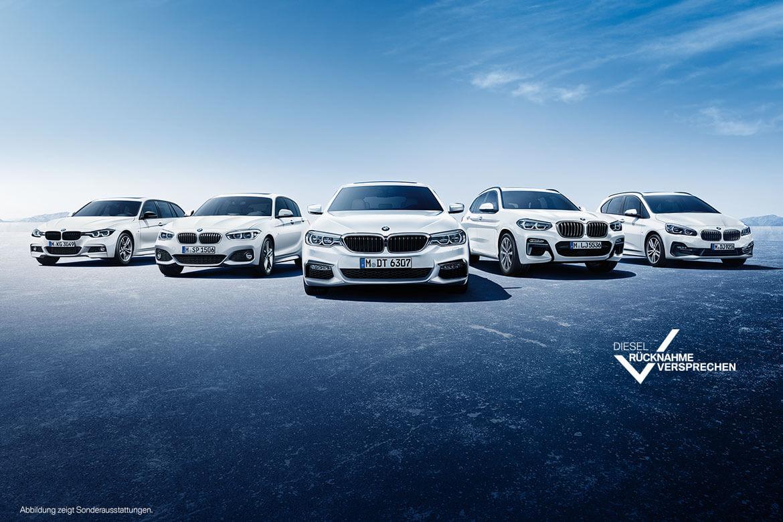 Die Stadt steht Ihnen offen: BMW Diesel-Rücknahmeversprechen.