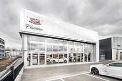 Cadillac-Standort Dresden-Kesselsdorf – Außenansicht