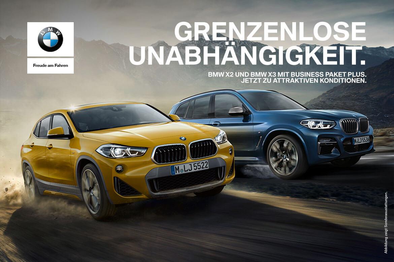 Grenzenlose Unabhängigkeit mit den BMW X2 und X3 Modellen.