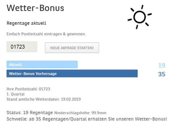 BMW Z4 Wetter-Bonus
